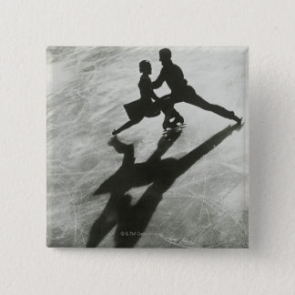 Ice Skating Couple Pinback Button