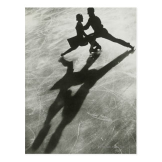 Ice Skating Couple Post Card