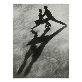 Ice Skating Couple Poster