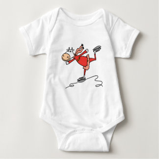 Ice Skating Cow Baby Bodysuit
