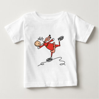 Ice Skating Cow Baby T-Shirt