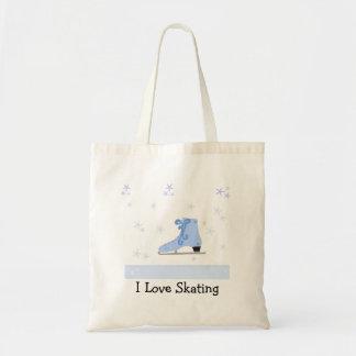 Ice Skating Design Budget Tote Bag