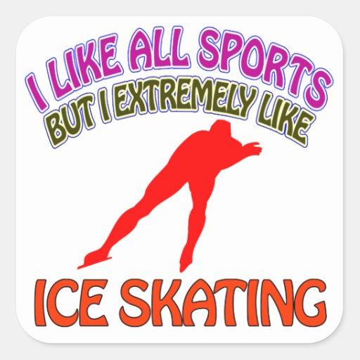 Ice Skating designs Square Sticker