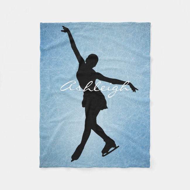Ice Skating Figure Skating Design Fleece Blanket