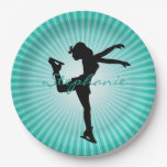 Ice Skating/Figure Skating Paper Party Plate 9 Inch Paper Plate