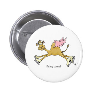 Ice Skating Flying Camel Button