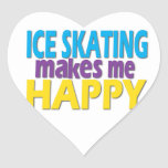 Ice Skating Gifts for Girls Heart Sticker