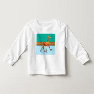 Ice Skating Giraffe at the Rink Toddler T-shirt