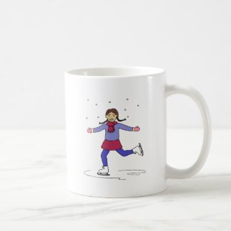 Ice Skating Girl Figure Skater Coffee Mug