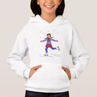 Ice Skating Girl Figure Skater Hoodie