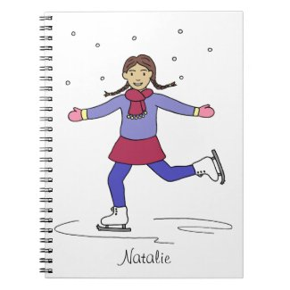 Ice Skating Girl Figure Skater Notebook
