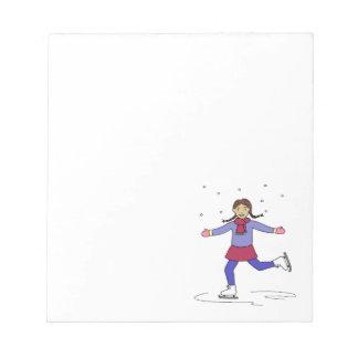 Ice Skating Girl Figure Skater Notepad