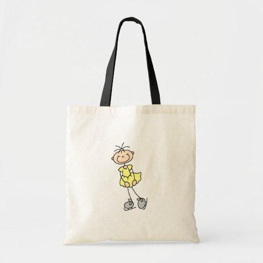 Ice Skating Girl In Yellow Bag