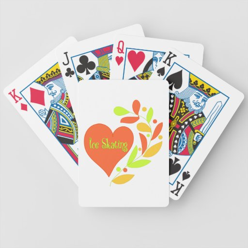 Ice Skating Heart Bicycle Playing Cards