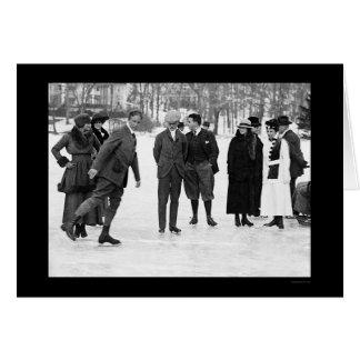 Ice Skating in Tuxedo Park, NY 1920 Greeting Cards