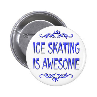 Ice Skating is Awesome Pinback Button