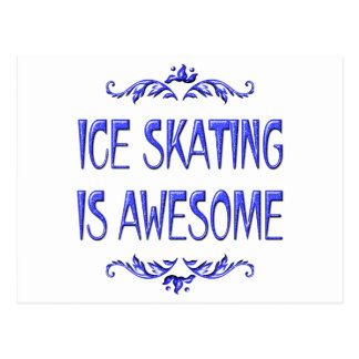 Ice Skating is Awesome Postcard