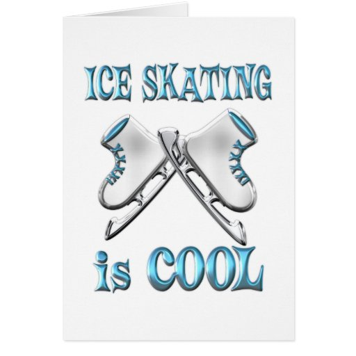 Ice Skating is Cool Greeting Card