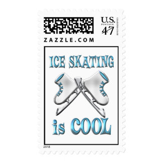 Ice Skating is Cool Postage