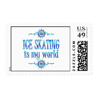 Ice Skating is My World Stamp