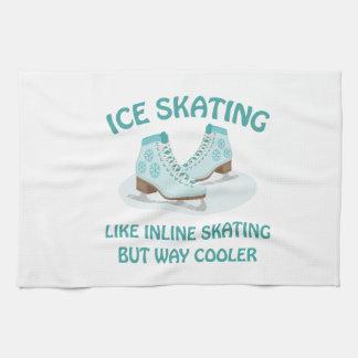 Ice Skating Kitchen Towel
