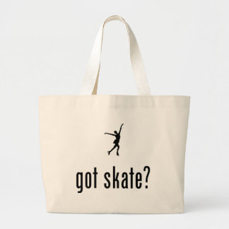 Ice Skating Large Tote Bag