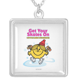 Ice Skating Little Miss Sunshine Silver Plated Necklace