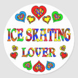 Ice Skating Lover Classic Round Sticker