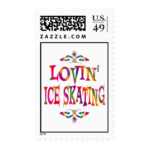 Ice Skating Lover Postage