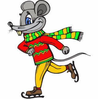 Ice Skating Mouse Photo Cutout