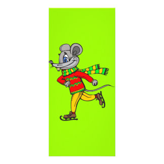 Ice Skating Mouse Rack Card