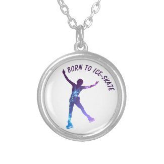 Ice skating necklace (figure skating woman)