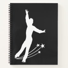 Ice skating notebook (figure skater man)