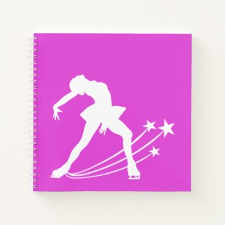 Ice skating notebook (figure skater woman)