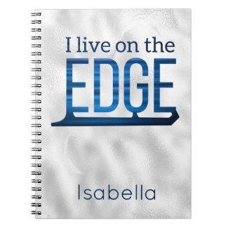 Ice skating notebook live on edge blue silver
