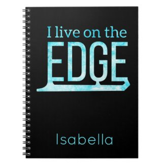 Ice skating notebook live on edge frozen blue