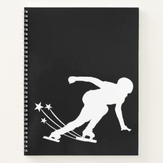 Ice skating notebook (speed skater)