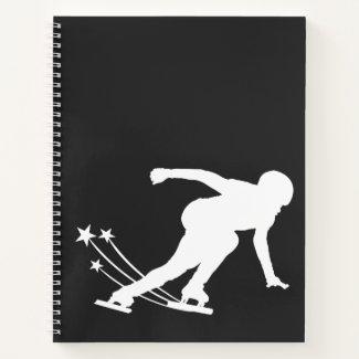 Ice skating notebook (speed skater)