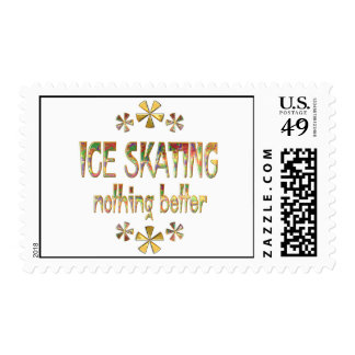 Ice Skating Nothing Better Stamp