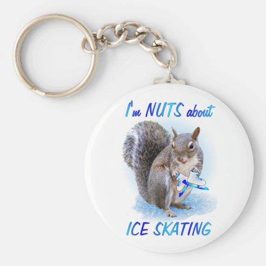 Ice Skating Nut Keychain