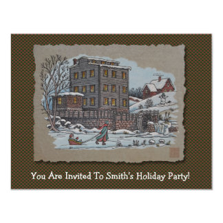 Ice Skating On Gristmill Pond Card