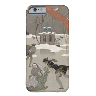 Ice Skating on the Frozen Lake illustration for iPhone 6 Case