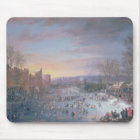 Ice Skating on the Stadtgraben in Brussels, 1649 Mouse Pad