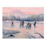 ICE SKATING PARTY by SHARON SHARPE Card Postcards