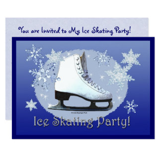 Ice Skating Party! Card