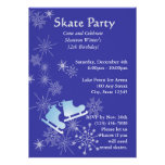 Ice Skating Party Custom Announcements