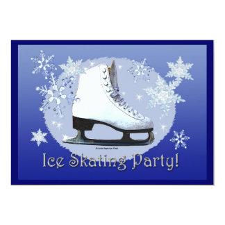 "Ice Skating Party! 5"" X 7"" Invitation Card"