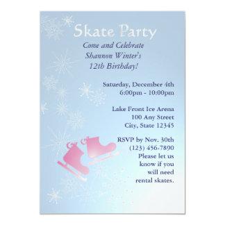 Ice Skating Party Custom Invitations