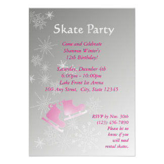 Ice Skating Party Announcements