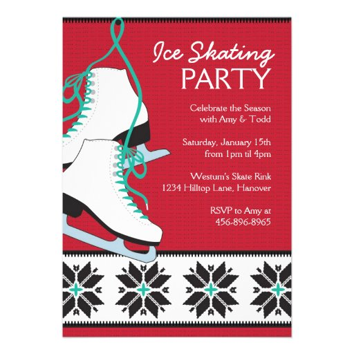 Ice Skating Birthday Invitations is the best ideas you have to choose for invitation example